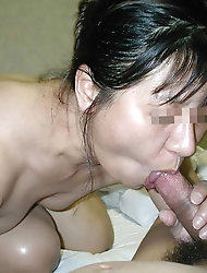 Zealous asian babes in their solo play