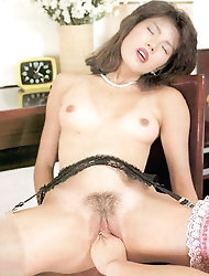 Naughty asian prostitutes are posing naked for cash